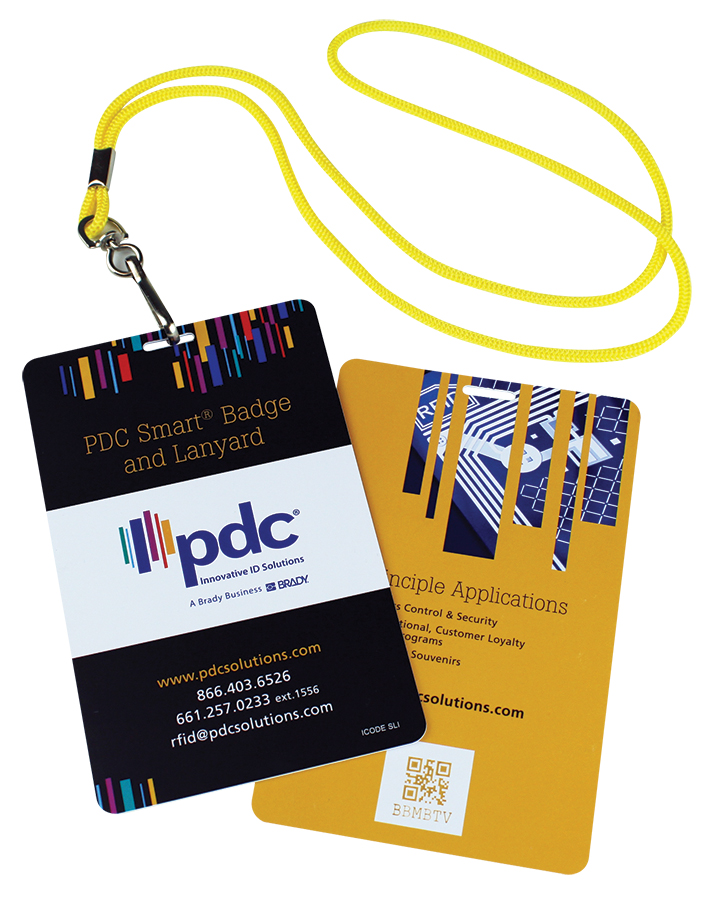 PDC Smart Badge with Cord Portrait