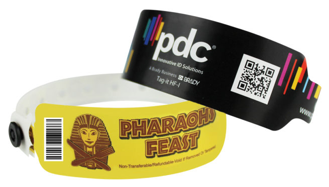 PDC Smart Full Color SuperBand Custom Bar Code Wristbands